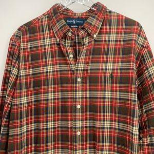 Polo Ralph Lauren Plaid Button Down Shirt Sz XL